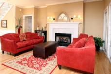 欧式红色沙发效果图图片
