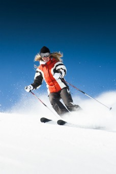 滑雪的人物图片