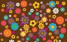 复古的花朵图案