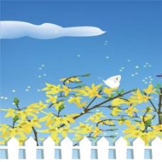 花朵围栏装饰画