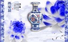 青花瓷装饰背景墙