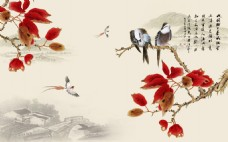 花卉鸟类装饰画