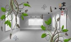 3D立体树叶背景墙