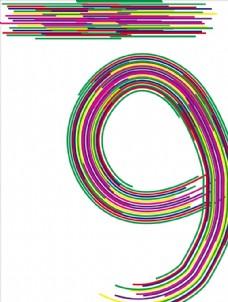 彩色字体设计