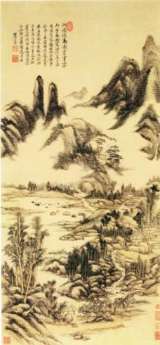 山水名画挂图图片