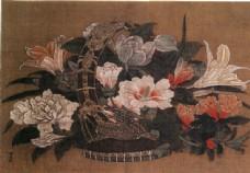 花卉花篮油画图片