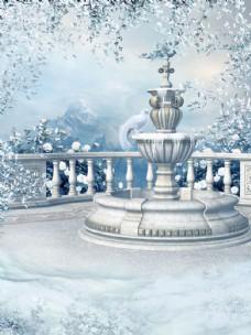 喷泉风景图片