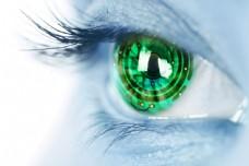 创意绿色眼睛图片