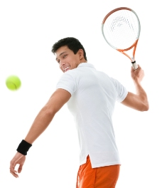 打网球的外国男人图片