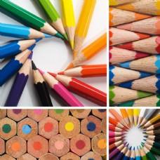 彩色蜡笔图片
