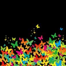 平面彩绘蝴蝶背景