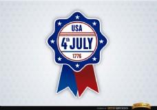 美国7月4日的丝带