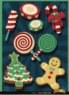 圣诞糖果元素