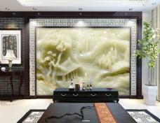 中国风格汉白玉玉雕设计素材