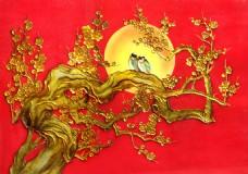 金色树木背景素材