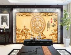花纹浮雕背景墙