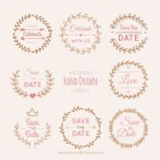 婚礼花环贴纸包