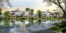 别墅小区水池景观效果图片