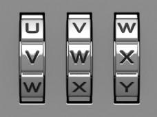vwx英文字母密码锁滚轮图片