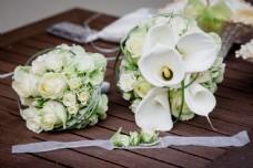 马蹄莲婚礼花束图片