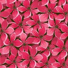 无缝图案配红花