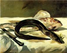切鱼油画装饰画