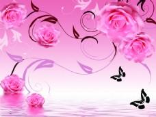 装饰花卉背景墙