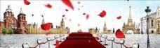 欧式婚礼舞台banner创意