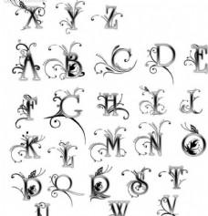艺术字母笔刷