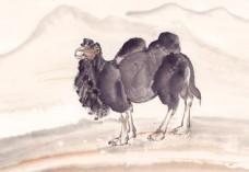 国画骆驼图片