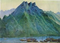 国画山图片