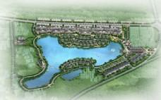 小区建筑规划鸟瞰图片