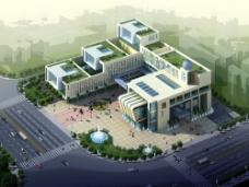 建筑设计鸟瞰效果图片