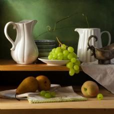容器和水果图片