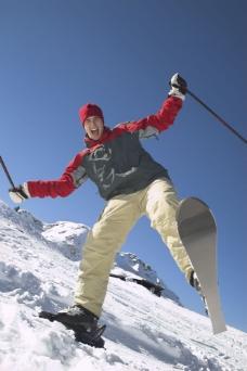 滑雪人物摄影图片