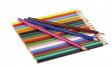 一堆彩色铅笔图片