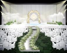 白色简约婚礼