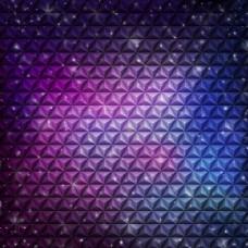 抽象立方花纹紫罗兰背景