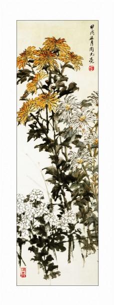 水墨花朵装饰画