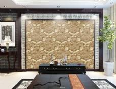 欧式花纹浮雕背景墙
