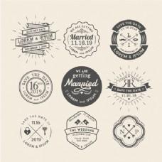 9婚礼徽章