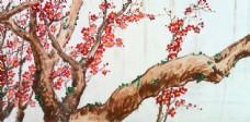 树木与花国画图片