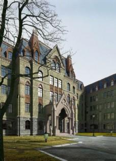欧洲庄园大门建筑设计图片