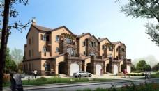 别墅建筑透视效果图片