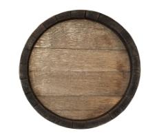 老旧木桶顶部图片