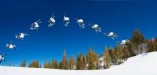 滑雪极限运动图片