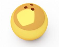 金色保龄球图片