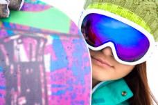 拿着雪橇的女人图片