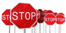 红色停止牌子图片