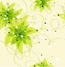 花和爬山虎叶无缝模式